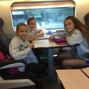 Agata, Benedetta e Viola in viaggio verso Roma