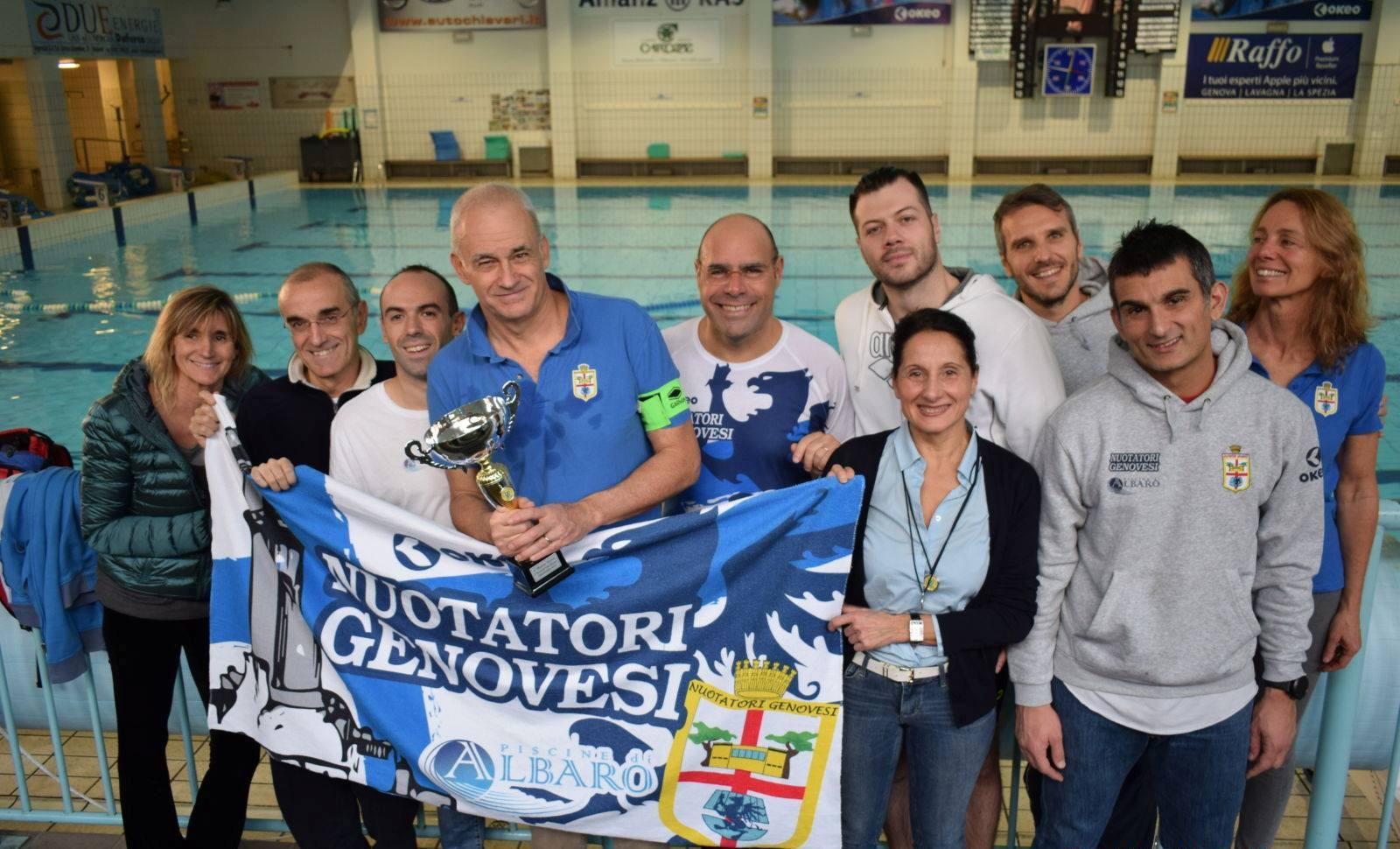 La squadra Master della Nuotatori Genovesi vince il 4° Trofeo Sprint di Chiavari.