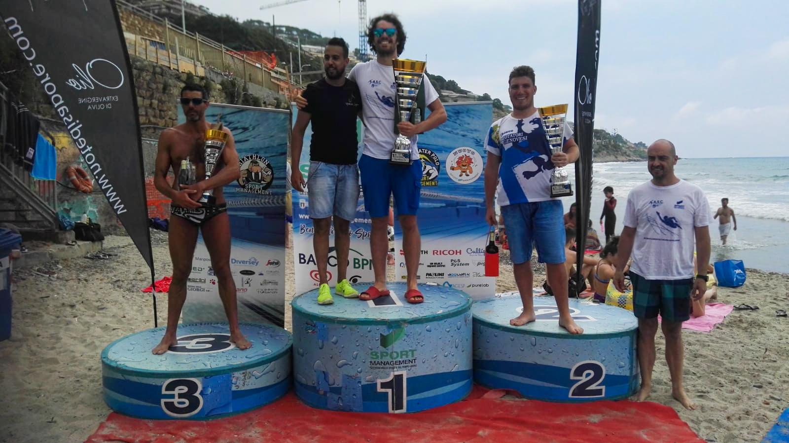Il podio del Miglio Marino Città di Sanremo